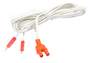 CABLE 96IN SHROUDED LEAD RED CONNECTORS by Dynatronics