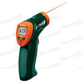 INFRARED THERMOMETER, -4 TO 630 DEG F, -4 TO 630 DEG F, 3.2 IN X 1.6 IN X 6.3 IN, 6.3 OZ