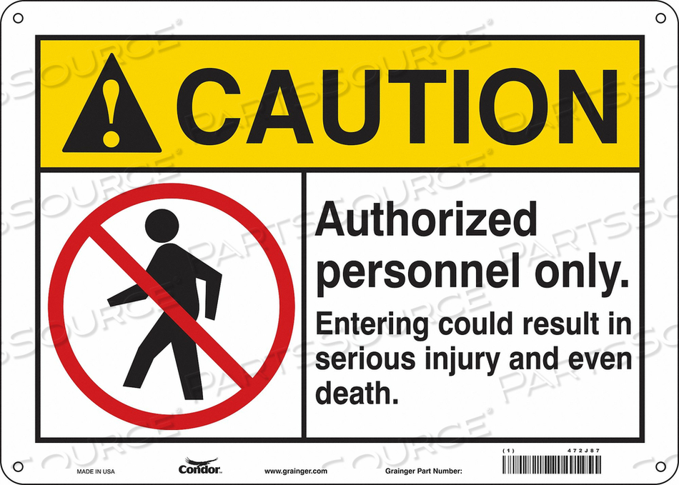 K1879 SAFETY SIGN 14 W 10 H 0.055 THICKNESS by Condor