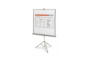 PORTABLE PROJECTION SCREEN 60 X 60 IN by Quartet