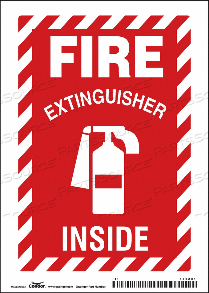 J6991 SAFETY SIGN 5 W 7 H 0.004 THICKNESS by Condor