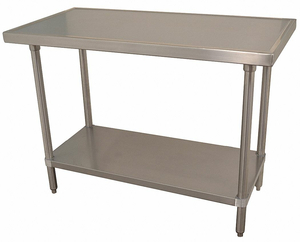 FIXED WORK TABLE SS 72 W 30 D by Advance Tabco