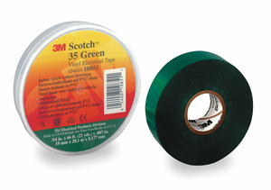 ELECTRICAL TAPE 7 MIL 3/4 X 66 FT. GRN by 3M Consumer