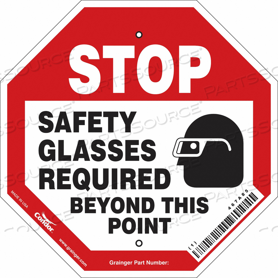 SAFETY SIGN 12 W 12 H 0.055 THICKNESS by Condor