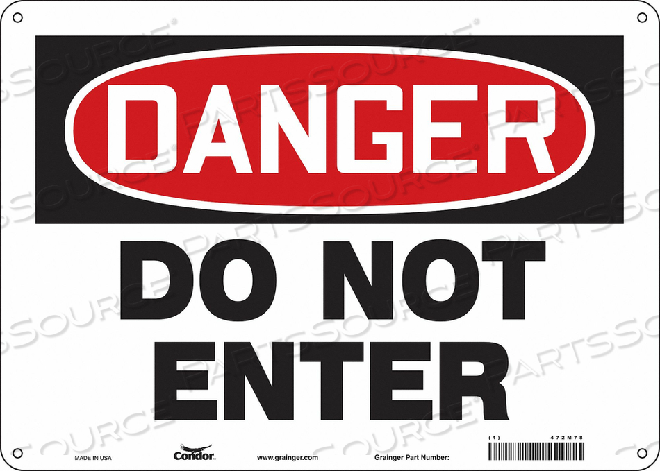 J6922 SAFETY SIGN 14 W 10 H 0.055 THICKNESS by Condor