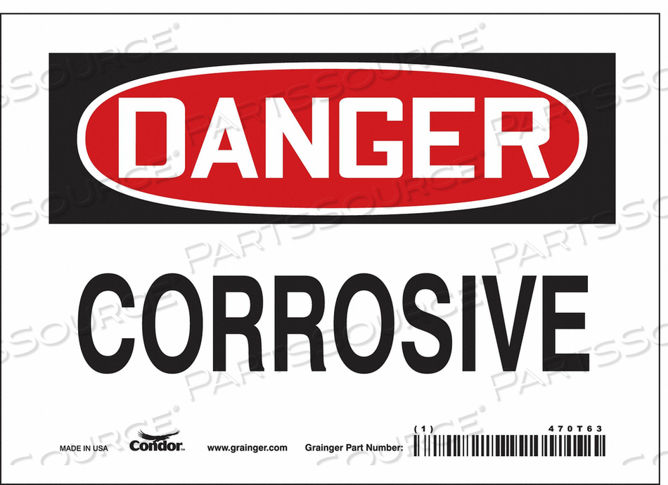 J6919 SAFETY SIGN 7 W 5 H 0.004 THICKNESS by Condor