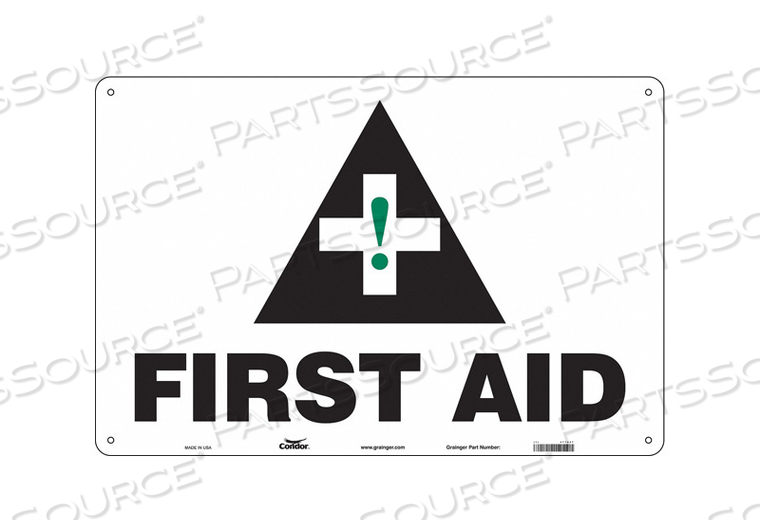 FIRST AID SIGN 36 WX24 H 0.004 THICK by Condor