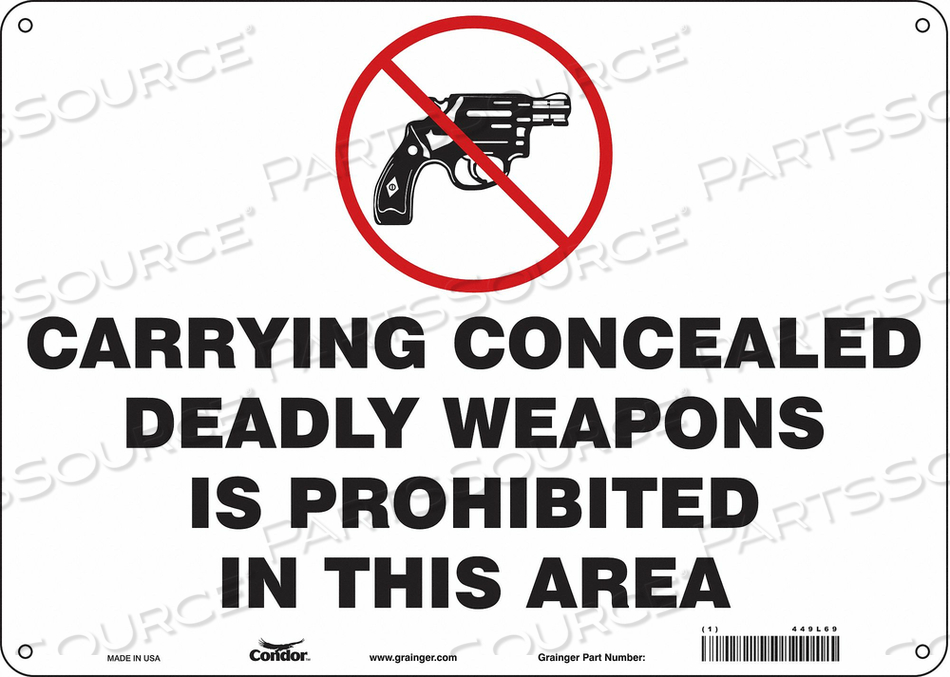 SAFETY SIGN 10 H X 14 W 0.032 THICK by Condor