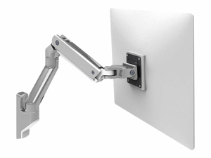 """ERGOTRON HX WALL MOUNT MONITOR ARM - MOUNTING KIT (ARTICULATING ARM, WALL MOUNT, PIVOT, MOUNTING HARDWARE, EXTENSION PART) FOR MONITOR - ALUMINUM - POLISHED ALUMINUM - SCREEN SIZE: UP TO 42"""" - WALL-MOUNTABLE by Ergotron, Inc."""