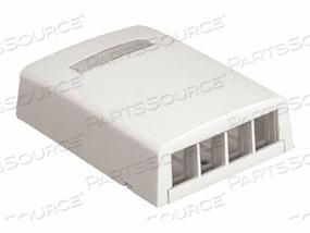 PANDUIT NETKEY SURFACE MOUNT BOXES - SURFACE MOUNT BOX - OFFICE WHITE - 4 PORTS by Panduit