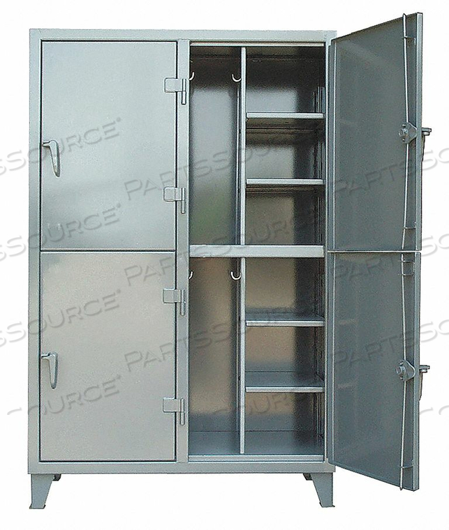 WRDRB LOCKR SOLID 2 WIDE 2 TIER GRAY by Strong Hold