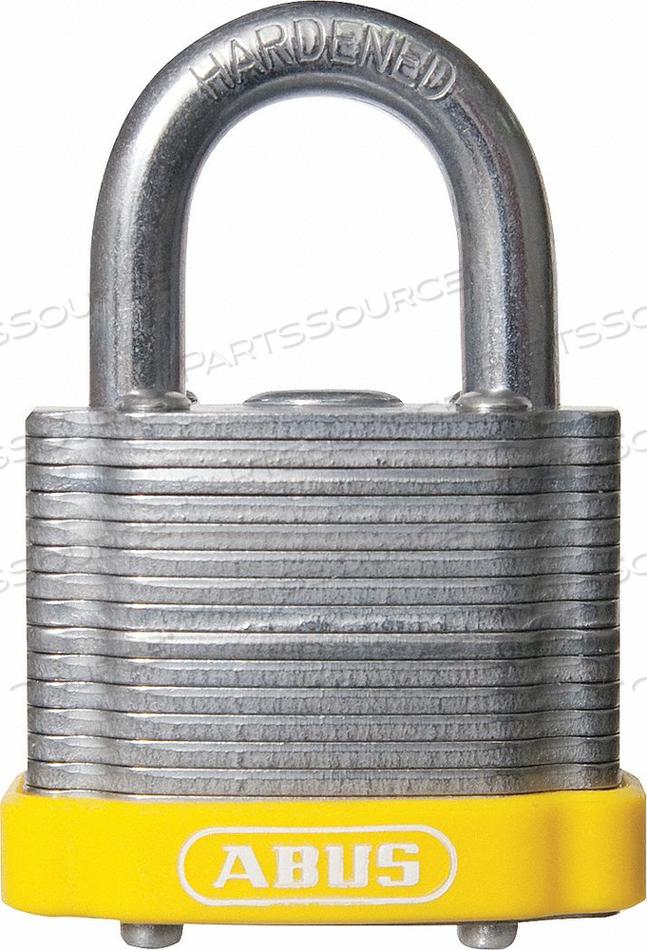 D8956 LOCKOUT PADLOCK KA YELLOW 1-3/8 H by Abus