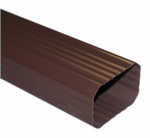 DOWNSPOUT 10 FT. 3X4 IN. BROWN by Genova