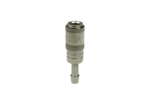 NON-VALVED COUPLER, 3/16 IN ID, 7/64 IN OD, 3/16 IN HOSE BARB, BRASS PLATED by Rectus (Parker Hannifin Corporation)