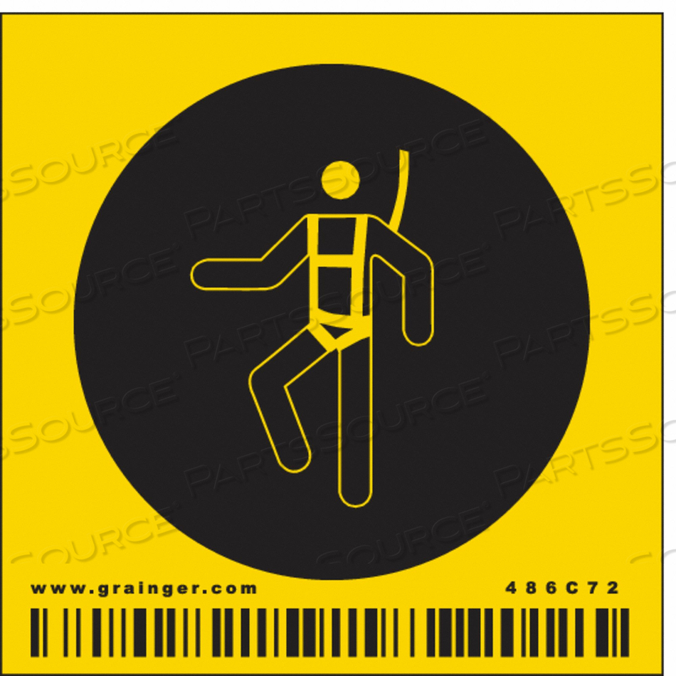 SAFETY SIGN 2-1/4 W 2-1/4 H 0.004 THICK by Condor
