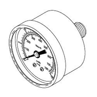 VACUUM GAUGE, 1/8 IN MPT, 1.5 IN DIA, 0 TO 760 MMHG by Allied Healthcare Products, Inc.