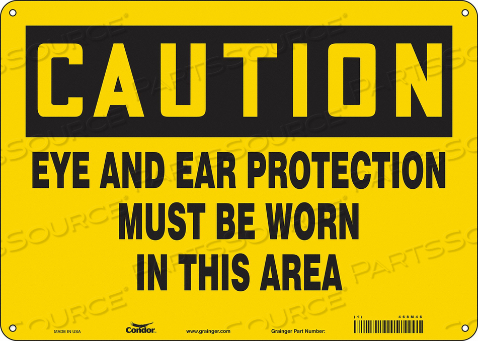 SAFETY SIGN 14 WX10 H 0.060 THICKNESS by Condor
