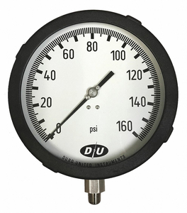 PRESSURE GAUGE 6 DIAL SIZE by Duro