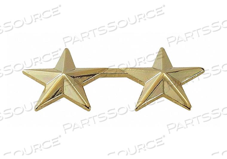 METAL RNKINSIGNIA TWO 5/8 STARS GOLD PR by Heros Pride