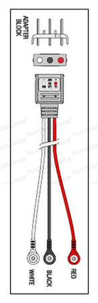 TELEMETRY CABLE - 3 LEAD SNAP by Replacement Parts Industries (RPI)
