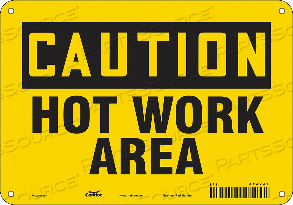 DANGER SIGN 10 W X 7 H 0.032 THICK by Condor