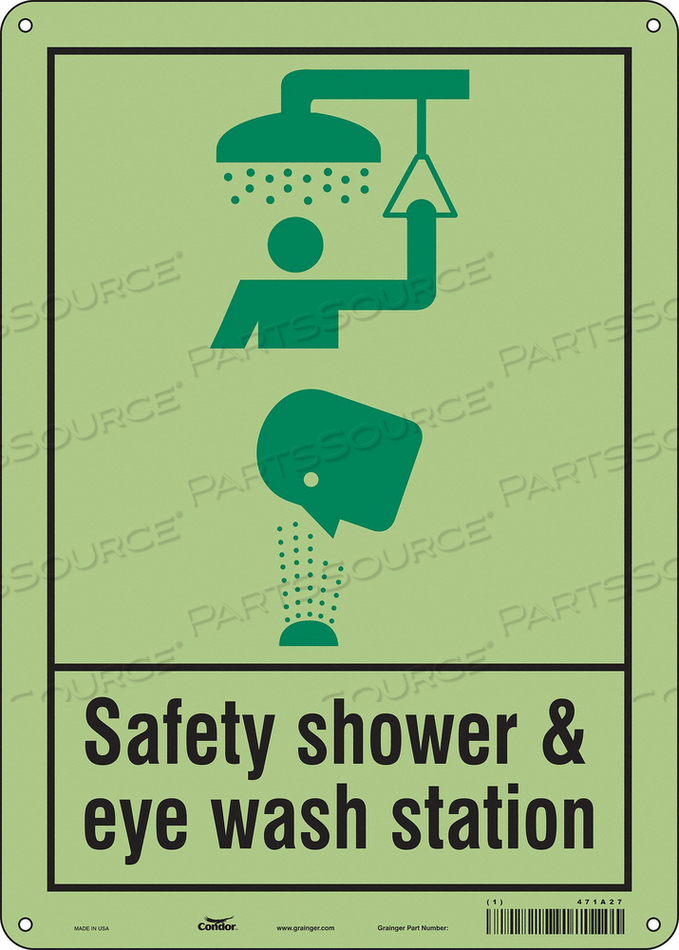 SAFETY SIGN 10 W X 14 H 0.070 THICK by Condor