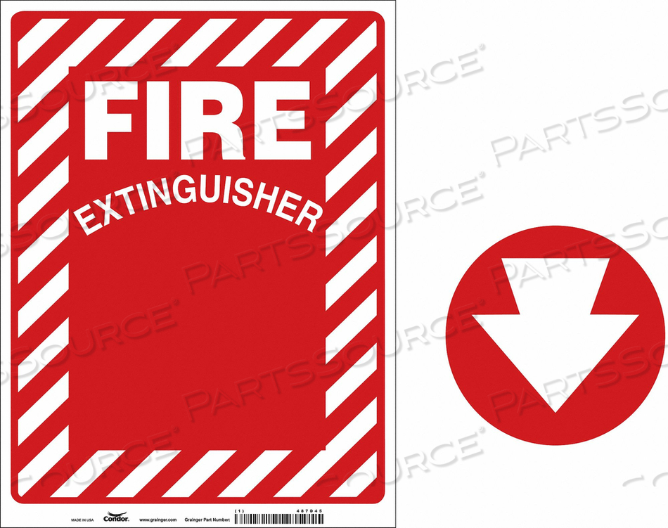 FIRE EXTINGUISHER SIGN 9 W 12 H by Condor