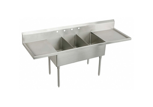 SCULLERY SINK WITHOUT FAUCET 48 IN L by Elkay