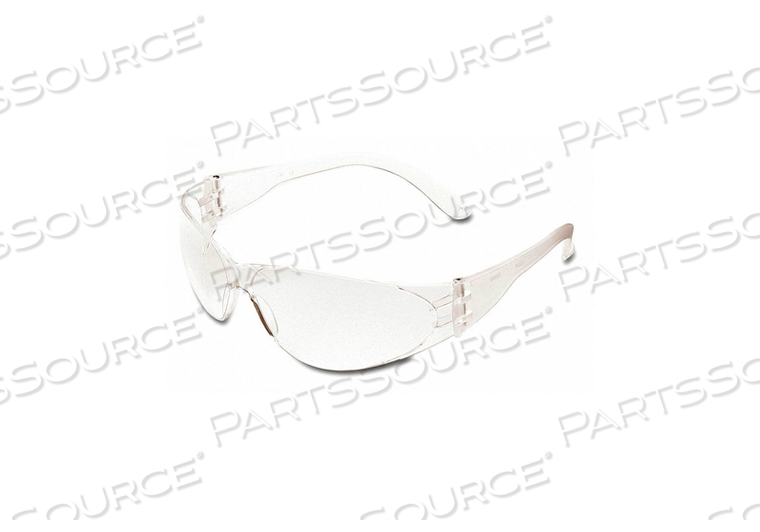 SAFETY GLASSES CLEAR FRAME/LENS by MCR Safety