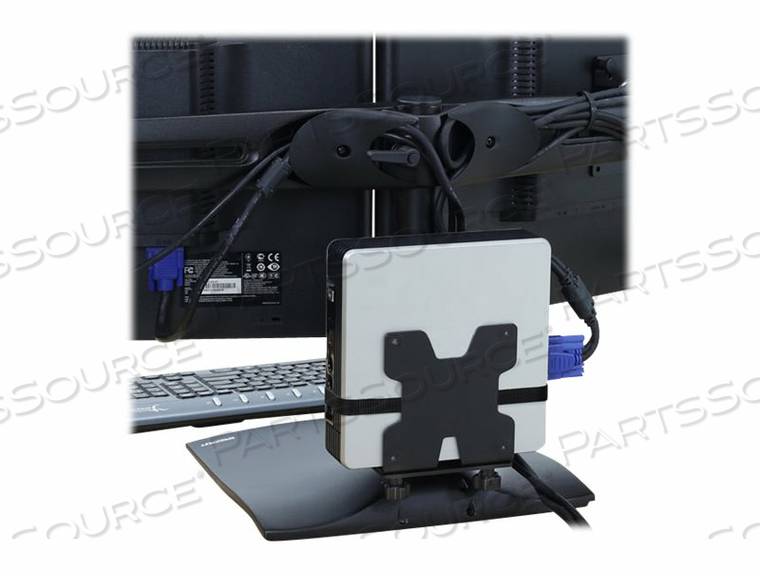 ERGOTRON THIN CLIENT MOUNT - MOUNTING KIT ( HOLDER, MOUNTING HARDWARE, STRAP ) FOR PERSONAL COMPUTER - BLACK - POLE MOUNT - FOR P/N: 45-353-026, 45-354-026 by Ergotron, Inc.