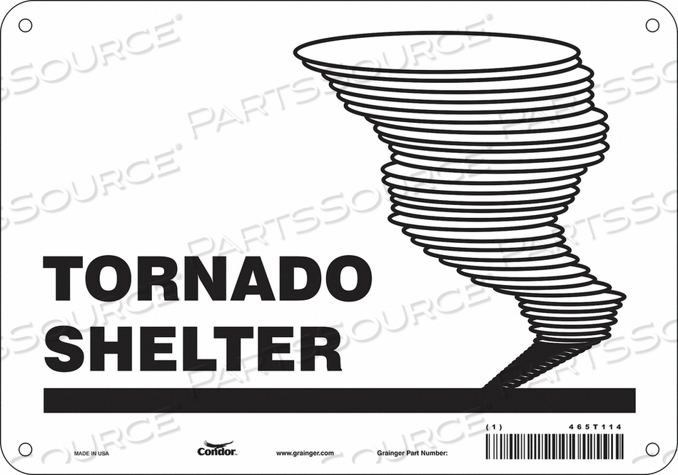 SAFETY SIGN 10 WX7 H 0.060 THICKNESS by Condor