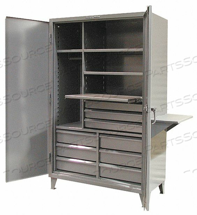 COMBO WRDRB/DRAWER CAB 78 H 48 W DRK GRY by Strong Hold