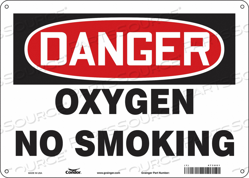NO SMOKING SIGN 14 WX10 H 0.032 THICK by Condor