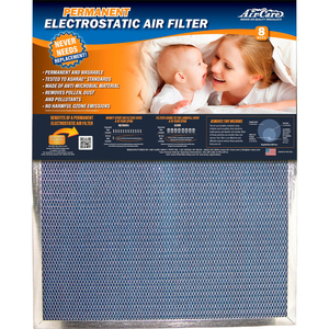 """16""""X20""""X1"""" ELECTROSTATIC AIR FILTER - MERV 8 by Aircare"""