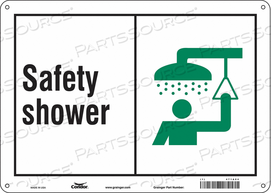 SAFETY SIGN 14 W X 10 H 0.055 THICK by Condor