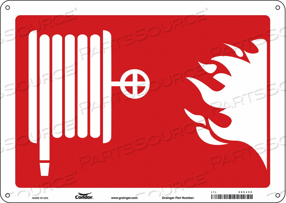 SAFETY SIGN 14 WX10 H 0.010 THICK by Condor