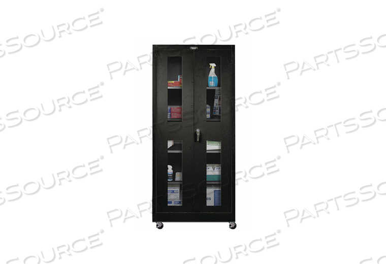 H2212 SHELVING CABINET 72 H 48 W BLACK by Hallowell
