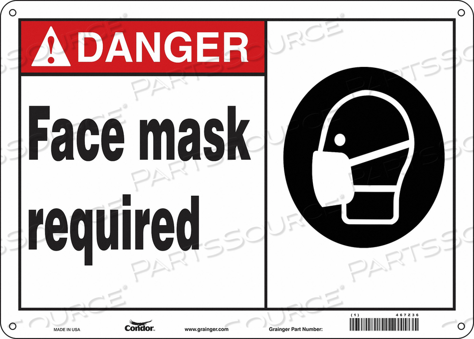 SAFETY SIGN 14 W 10 H 0.010 THICKNESS by Condor