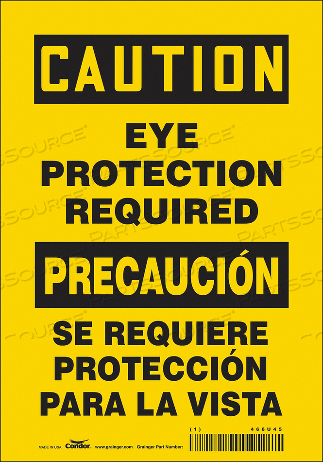 K2001 SAFETY SIGN 7 W 10 H 0.004 THICKNESS by Condor