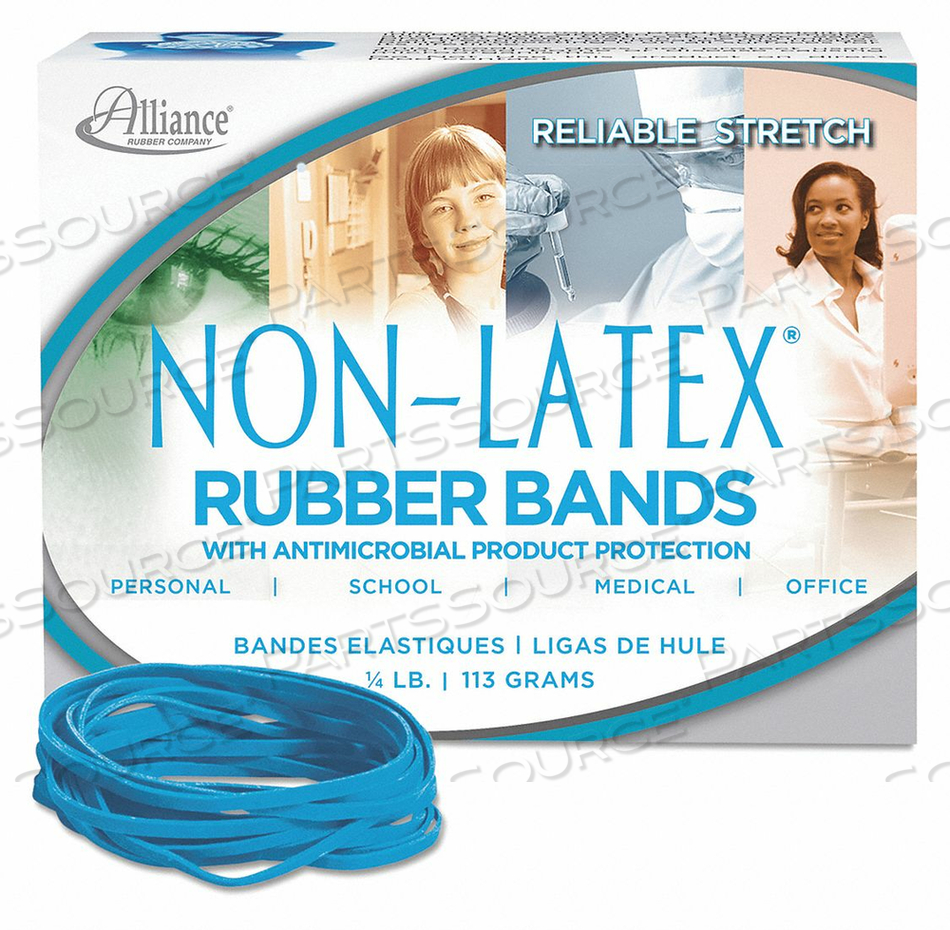 RUBBERBANDS SIZE 33 1/4 LB. CYAN BLUE by Alliance Rubber Company