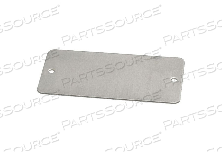 BLANK TAG 3 IN W SILVER ALUMINUM PK100 by C.H. Hanson