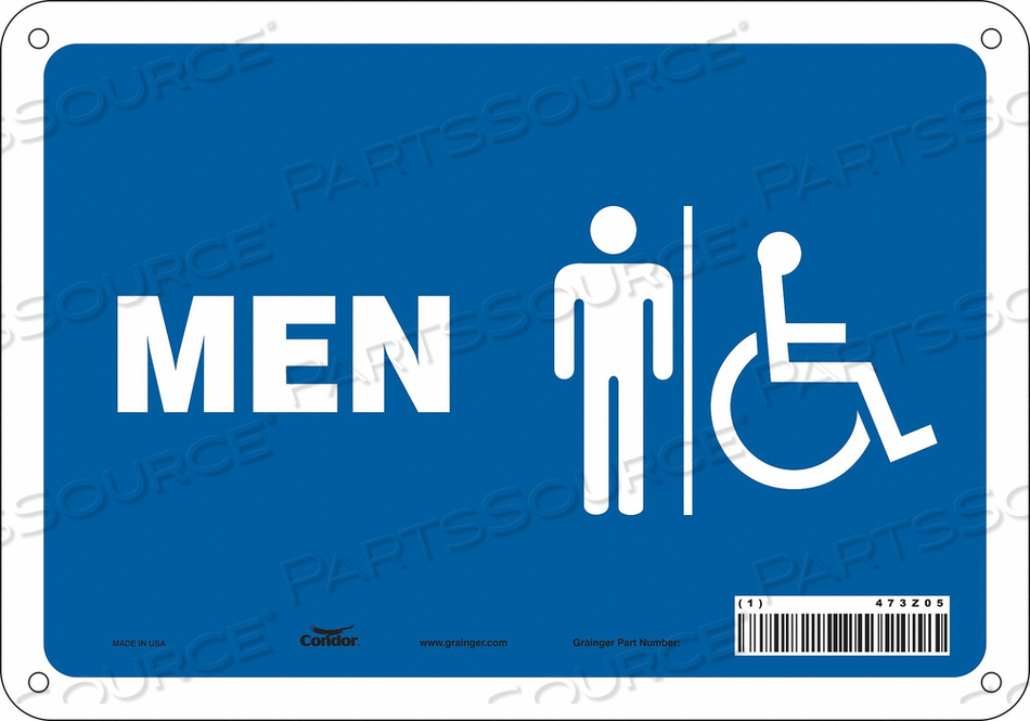RESTROOM SIGN 10 W 7 H 0.032 THICK by Condor