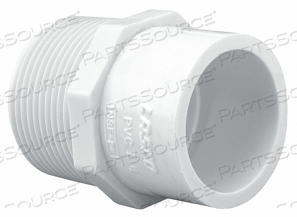 MALE ADAPTER 1-1/4 X 1-1/2 IN MPT X SLIP by Lasco
