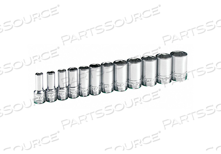 SOCKET SET METRIC 1/4 IN DR 12 PC by SK Professional Tools