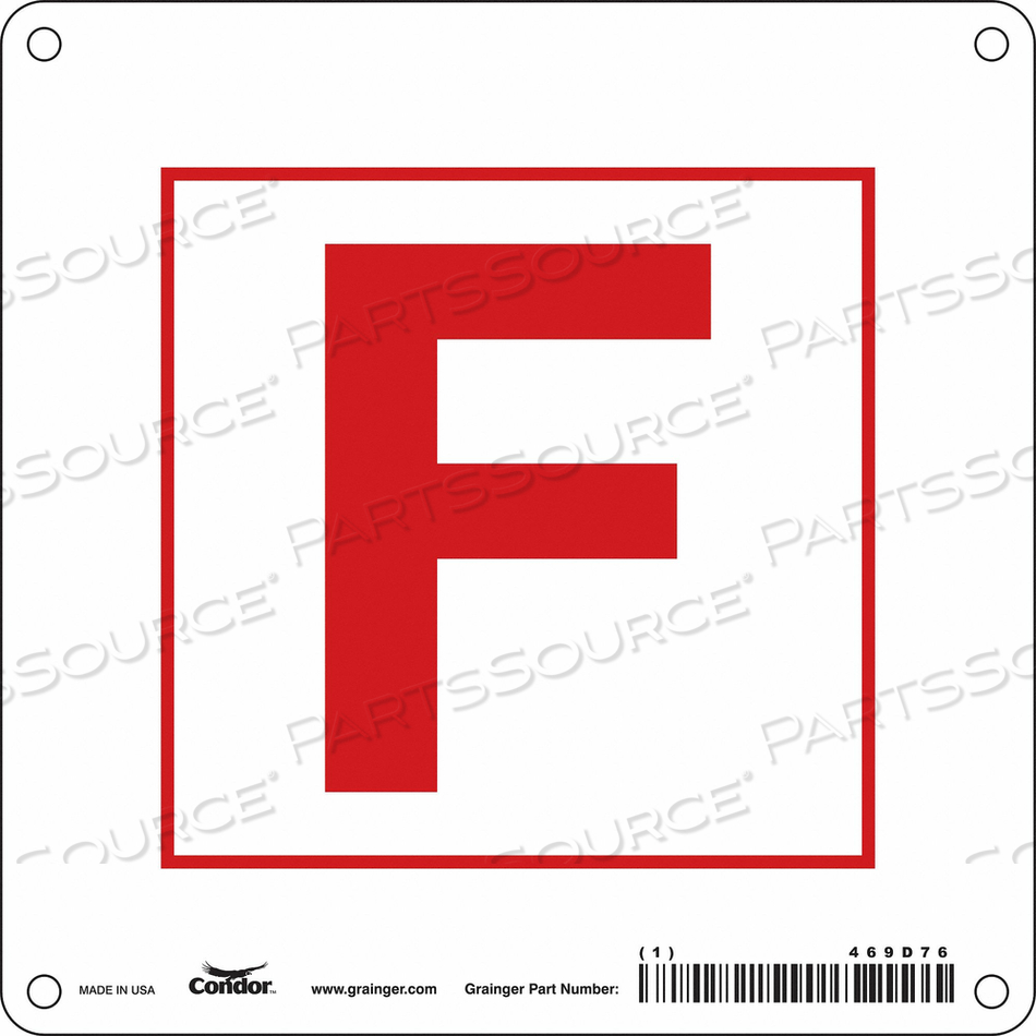 SAFETY SIGN 6 W 6 H 0.032 THICKNESS by Condor