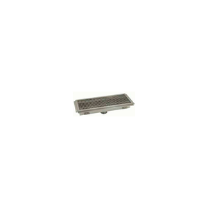 FLOOR TROUGH, 48L X 12W X 4H, STAINLESS STEEL GRATE SINGLE DRAIN by Advance Tabco