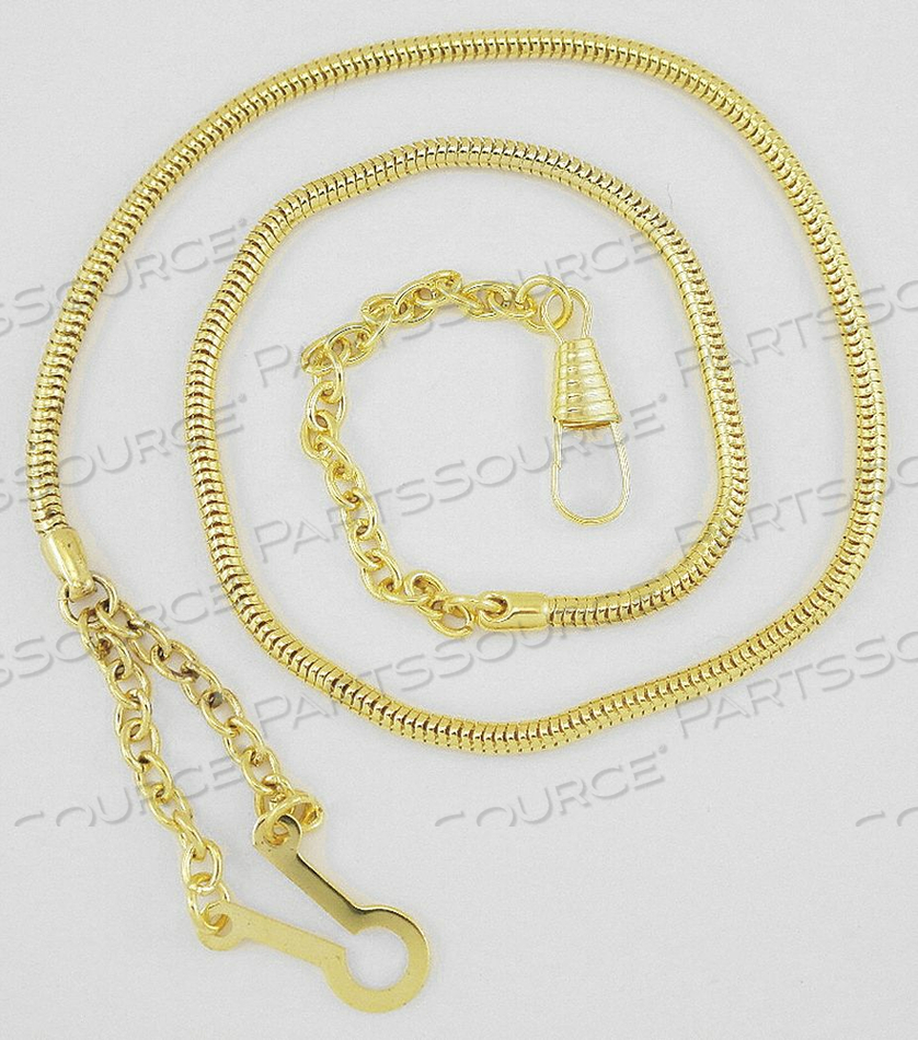 WHISTLE CHAIN METAL GOLD by Heros Pride