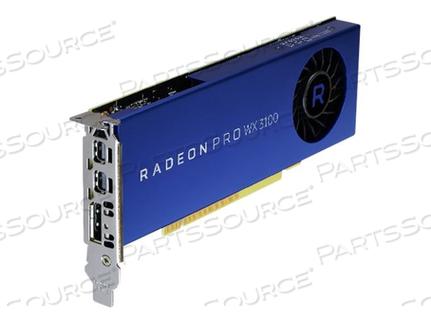 AMD RADEON PRO WX 3100 - GRAPHICS CARD - RADEON PRO WX 3100 - 4 GB - 2 X MINI DISPLAYPORT, DISPLAYPORT - FOR PRECISION 5820 TOWER, 7820 TOWER, 7920 TOWER