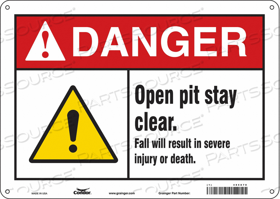 CONSTRUCTION SIGN 14 W 10 H 0.032 THICK by Condor