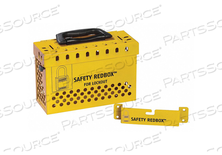 GROUP LOCKOUT BOX YELLOW 6-7/64 H by Condor